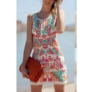 Free People Cross Stitch Aztec Sleeveless Dress